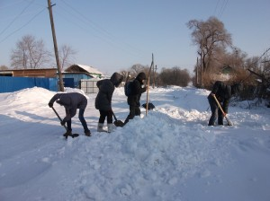 Борьба со снегом.